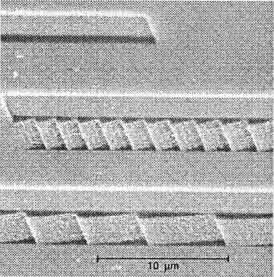Cross-sections of linear blazed gratings